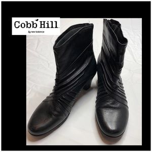 Cobb Hill Shoes - Cobb Hill Slouch Leather Zip Up Ankle Boots 10W